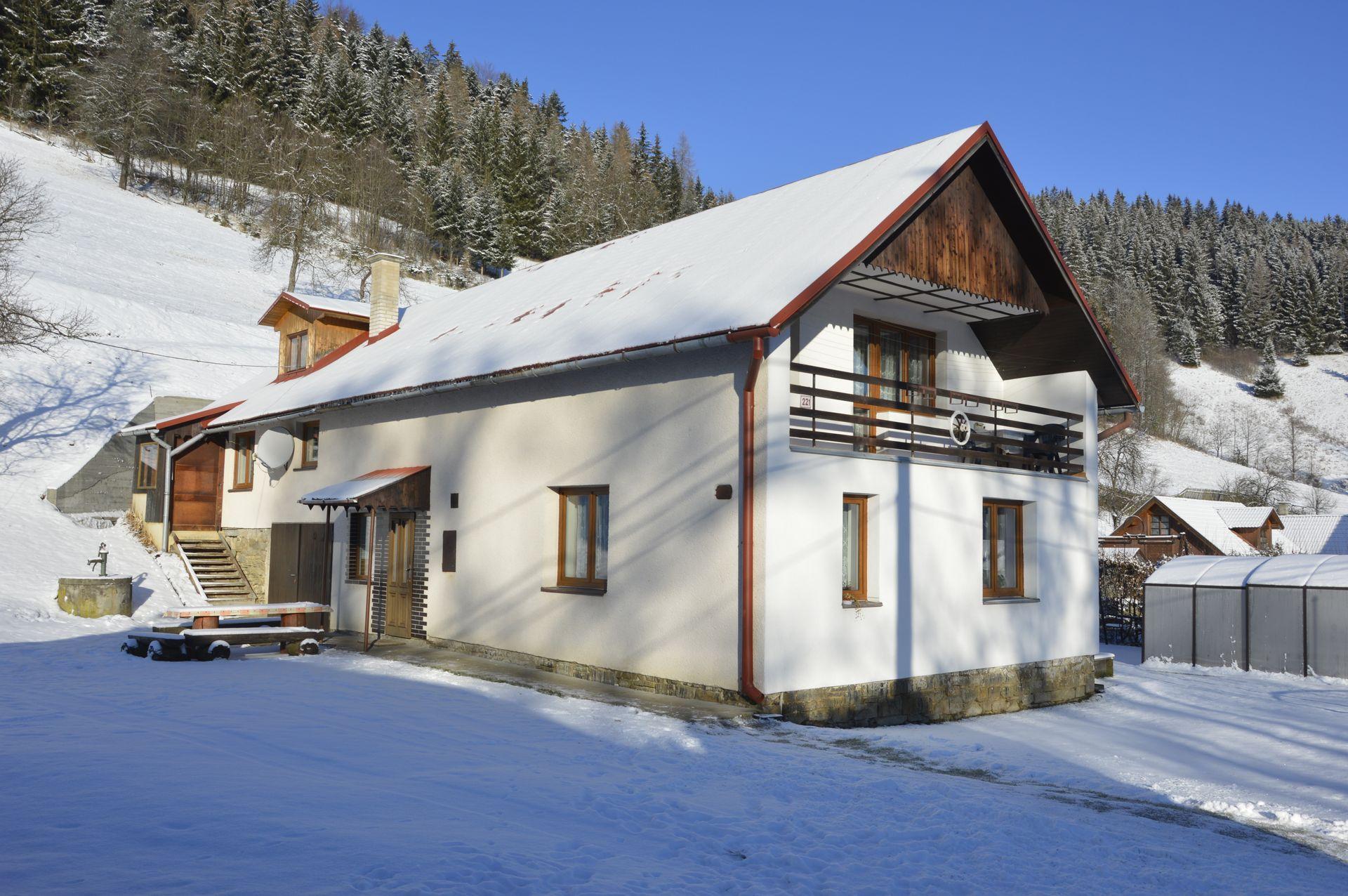 Chata Vranečka se nachází na rozhraní Javorníků a Beskyd