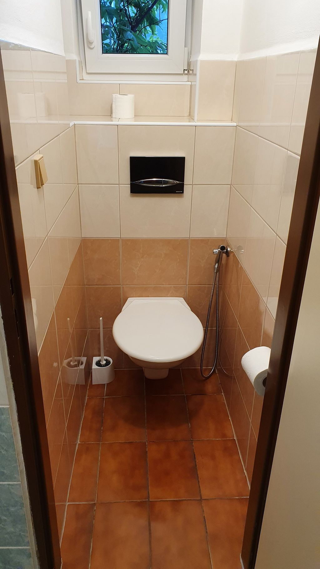 Nová toaleta v přízemí Vranečky